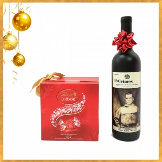 19 Crimes Red Wine 75 cl with Lindt Chocolate
