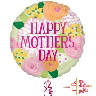 28 inch HAPPY MOTHERS DAY Spring Colors Balloon