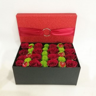 Glitter Box Full of Roses