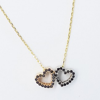 Hearts Attached Together Forever Necklace