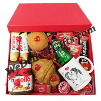 Valentine Breakfast RED BOX