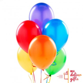 Colorful flying Balloons bouquet