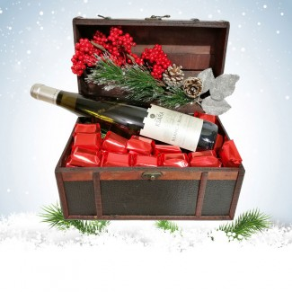 Christmas Chocolate and Wine Coffret