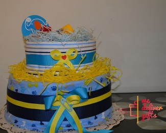 Diaper cake 2 ranges with bodysuite