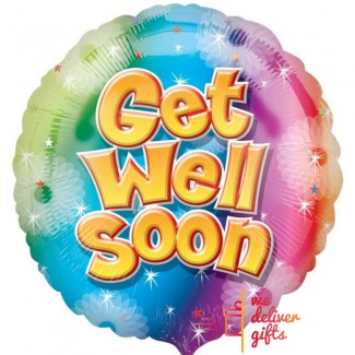 Get Well Soon Balloon with shiny stars