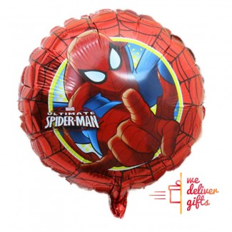 Spiderman red round Foil Balloo