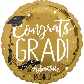 The Adventure Begins Grad Balloon