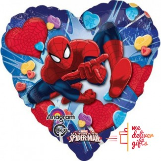 Ultimate spiderman love heart balloon
