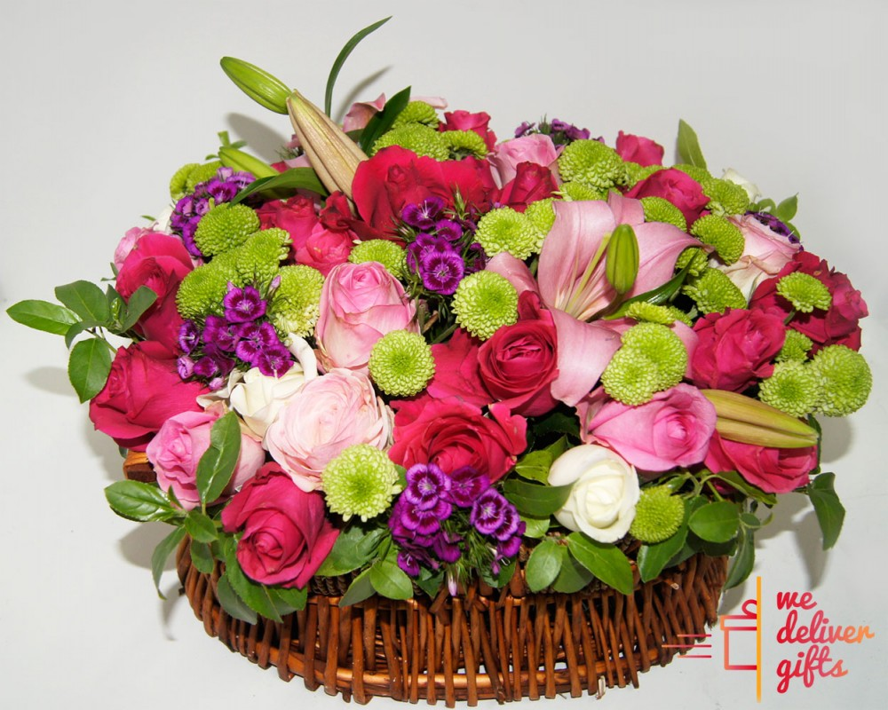 Multi-Colored Flowers Bouquet | We deliver gifts - Lebanon