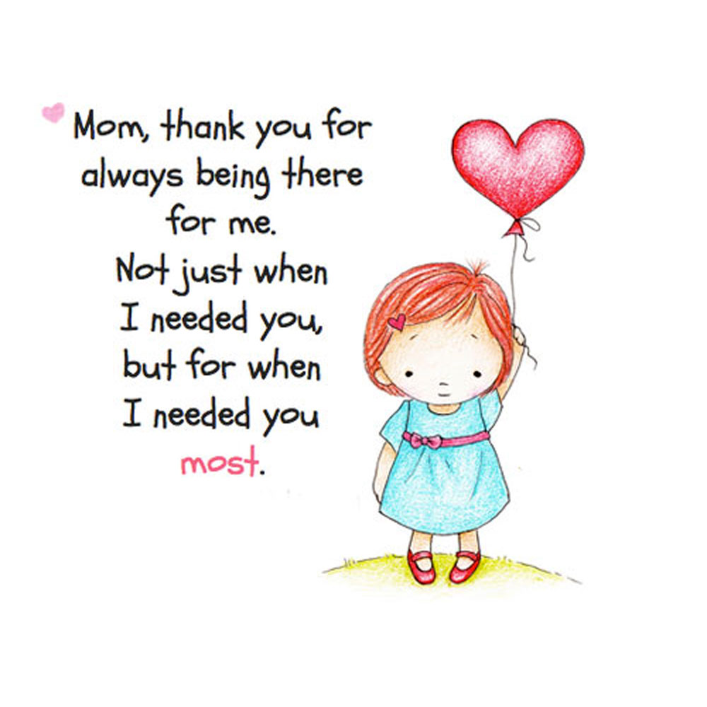 Mom Thank You For Always Being There Postal Wedelivergifts