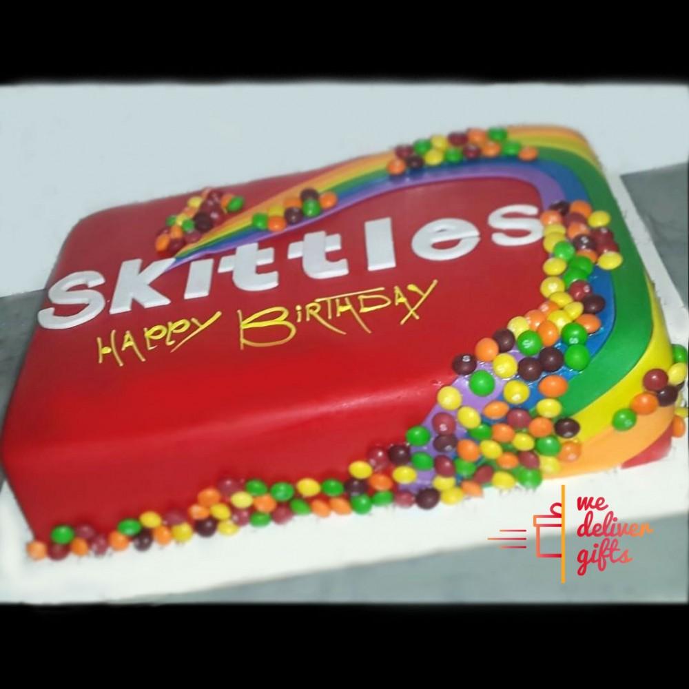 Phenomenal Skittles Cake We Deliver Ts Lebanon Birthday Cards Printable Benkemecafe Filternl