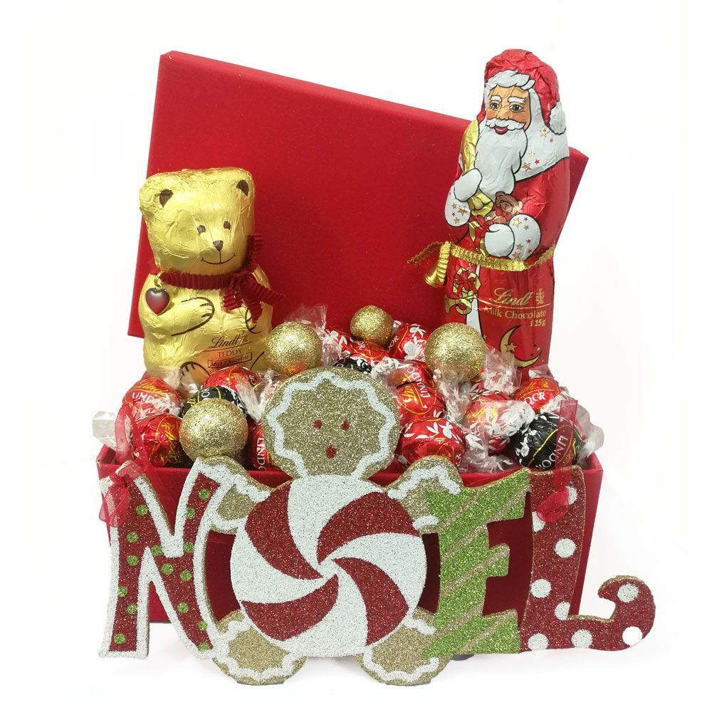 Lindt Chocolate Christmas Basket