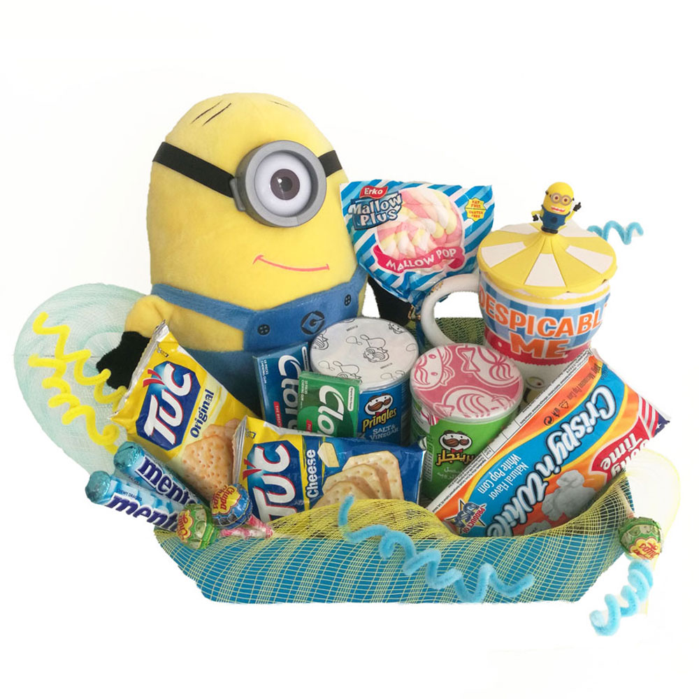 Minion Gift Basket Tasteful Treats. Loading zoom