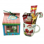 Candies in a Mug and Christmas House