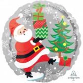 Santa Claus Christmas Helium Balloon