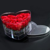9 Roses In a Plexi Heart