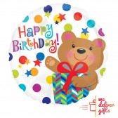 Happy Birthday Bear Balloon