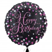 Pink Celebration Prismatic Foil Balloon