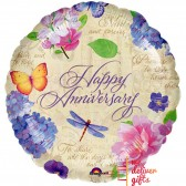 Happy Anniversary Garden Foil Balloon