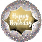 Birthday satin gold burst Balloon